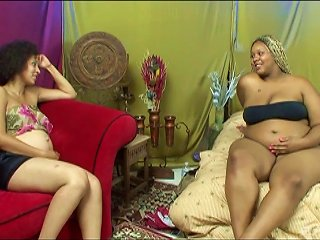 Pregnant Girl And A Black Bbw Make Sexy Lesbian Porn